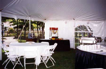 Rent 30 x 30 White Stake and Pole Tent