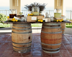 Wine Barrel Table Wedding Rental