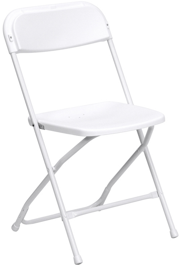 Bright White Folding Chair Rental