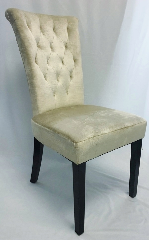 Rent High Back Champagne King & Queen Chair