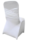 Cross-back Spandex Chair Cover Wedding Rental