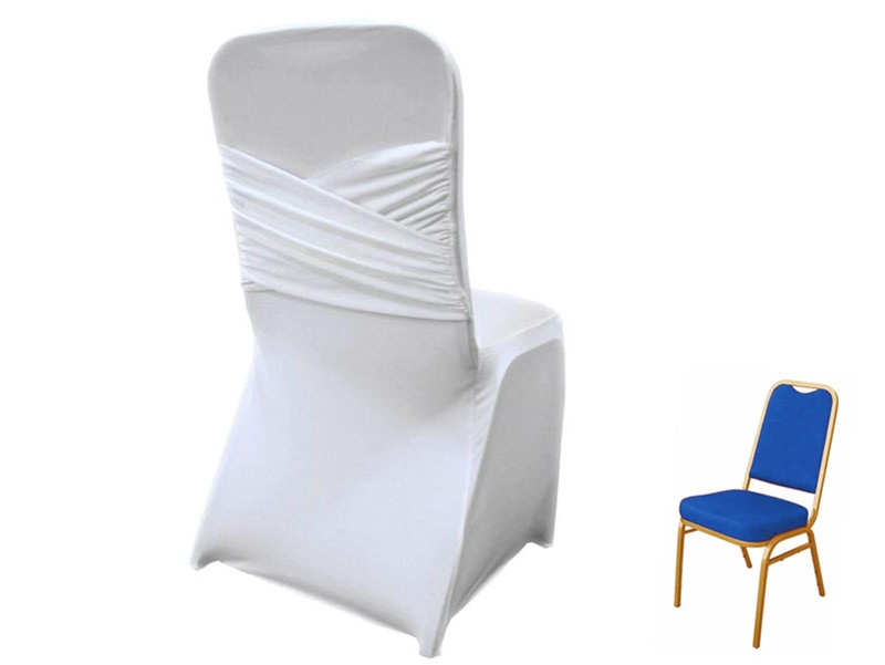 Cross-back Spandex Chair Cover Rentals