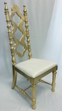 Gold Wood King & Queen Chair Wedding Rental