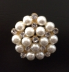 Gold & Pearl Broach / Buckle Wedding Rental