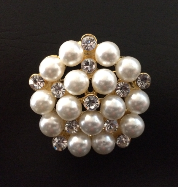 Gold & Pearl Broach / Buckle Rentals
