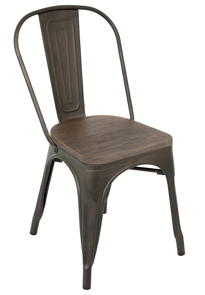 Rustic Wood & Steel Chair Rental