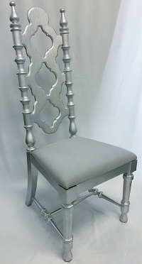 Silver Wood King & Queen Chair Wedding Rental