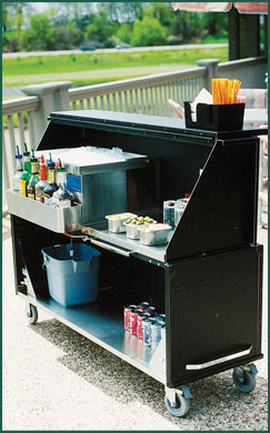 Portable Black Bar Wedding Rental