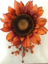 Burnt Orange Sunflower Spray Wedding Rental