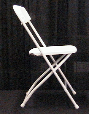 Rent Bright White Folding Chair